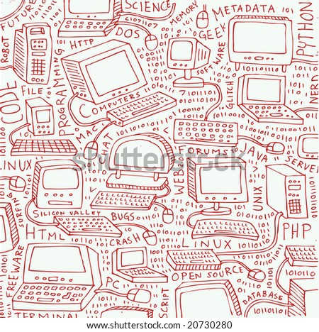 Many computer doodles.