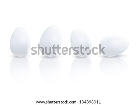 Many eggs. Vector design. - stock vector