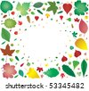 Many leafs from big to small - stock vector