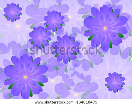 Many lilac flowers beautiful background - stock vector