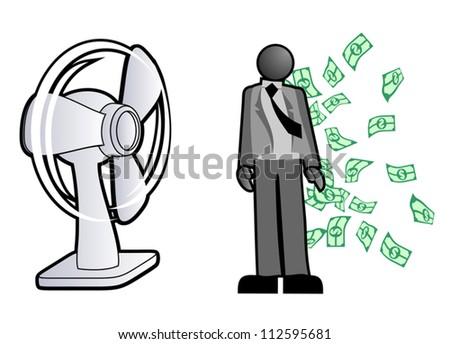 Many money - stock vector