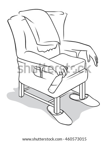 Stock Vector Desk Chair Book And Learning Equipments In Class Room Cartoon Vector And Illustration Hand