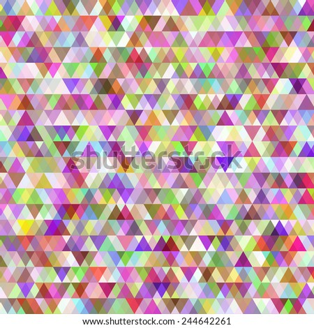 Many rows of identical small colored triangles
