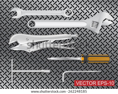 many tools.vector illustration  - stock vector