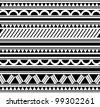 Maori / Polynesian Style bracelet tattoo - stock vector