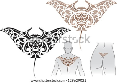 Stingray Tattoo Maori Maori Styled Tattoo Pattern in