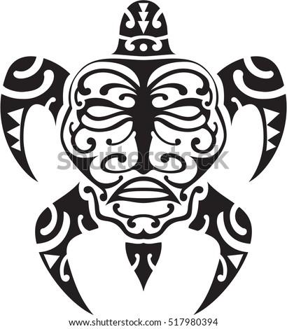 maori turtle tattoo design on white stock vector 517980394. Black Bedroom Furniture Sets. Home Design Ideas