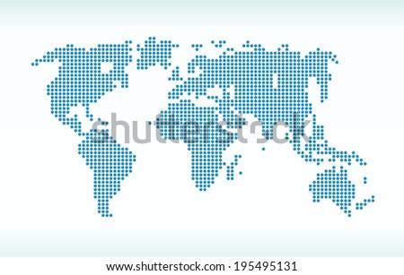 Map - stock vector