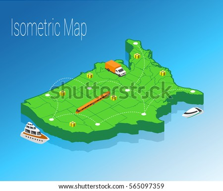 Isometric Usa Stock Images RoyaltyFree Images Vectors