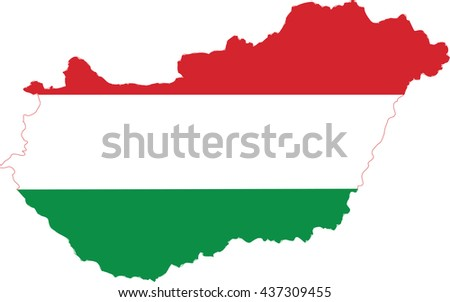 Map and flag of Hungary