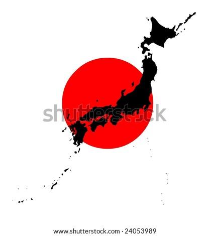Map Flag Japan Vector Art Stock Vector Shutterstock - Japan map flag
