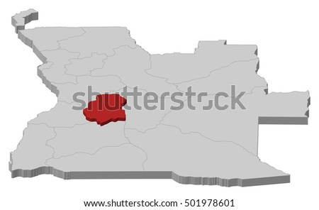 Map Angola Huambo 3dillustration Stock Vector 501978601 Shutterstock