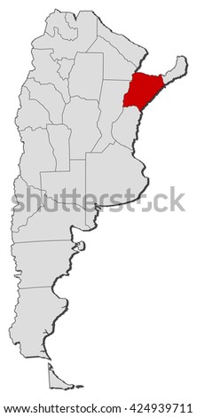 Map - Argentina, Corrientes