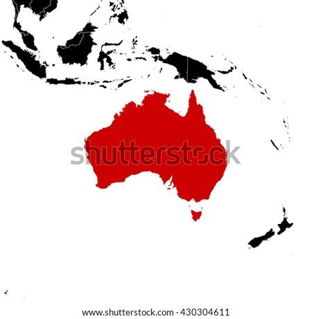 Map - Australia - stock vector
