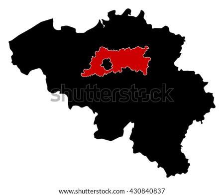 map belgium flemish brabant