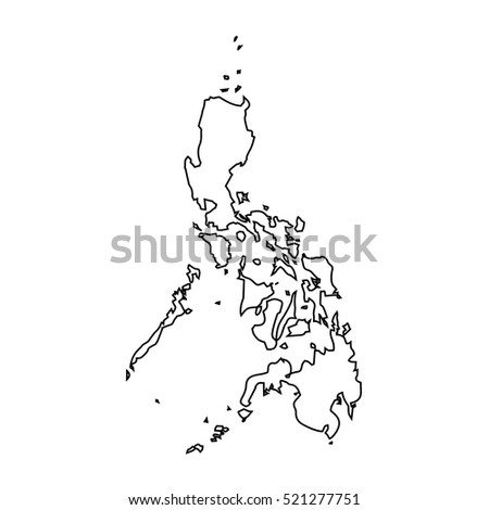 map black outline Philippines