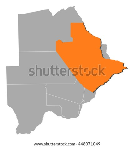 Map - Botswana, Central
