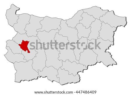 Map - Bulgaria, Sofia City - stock vector