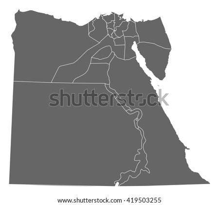 Map - Egypt - stock vector