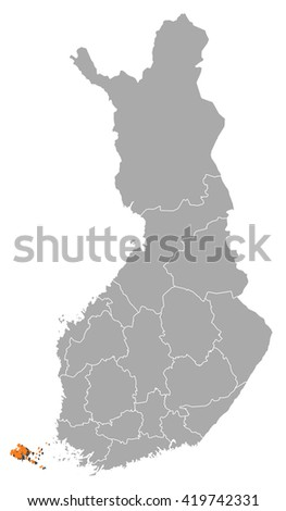 Map - Finland, Aland - stock vector