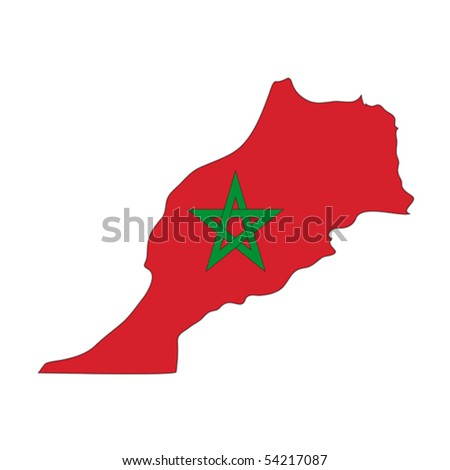 map flag Morocco