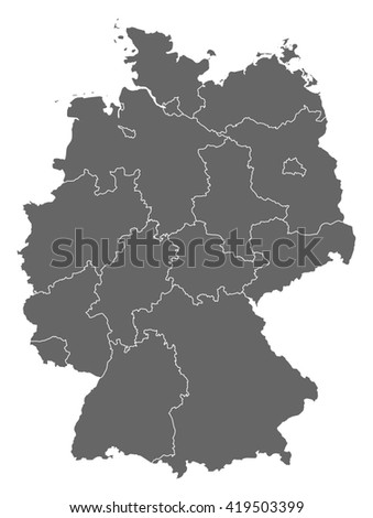 Map - Germany - stock vector
