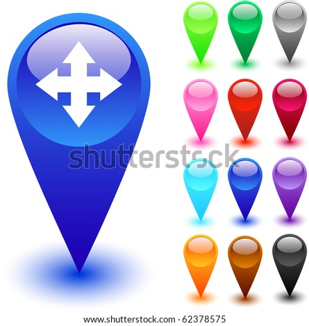 Map glossy web buttons.