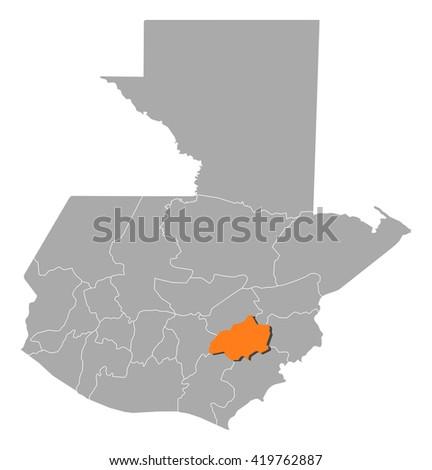 Map Guatemala Jalapa Stock Vector 419762887 Shutterstock