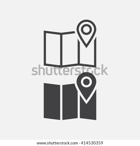 map icon, map icon vector,map , map flat icon, map icon eps, map icon jpg, map icon path, map icon flat, map icon app, map icon web, map icon art, map icon, map icon AI, map icon - stock vector