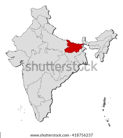 Map india bihar stock photo photo vector illustration 418756237 map india bihar gumiabroncs Image collections
