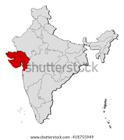 Map gujarat india vectores en stock 502398985 shutterstock map india gujarat gumiabroncs Choice Image