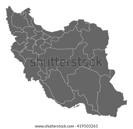 Map - Iran - stock vector
