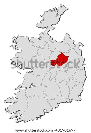 Westmeath Ireland Map.Map Ireland Westmeath Stock Vector 431901697 Shutterstock