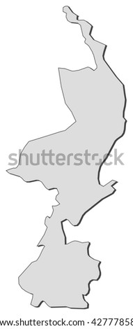 Hand Drawn Netherlands Map Vector Illustration Stock Vector