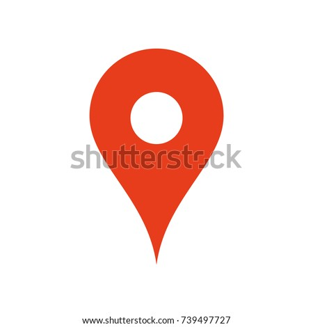 Map Location Icon Pin Gps Symbol Stock Vector 2018 739497727