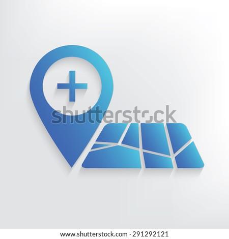 Map location symbol design,clean vector - stock vector