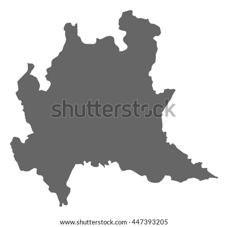Map - Lombardy (Italy) - stock vector