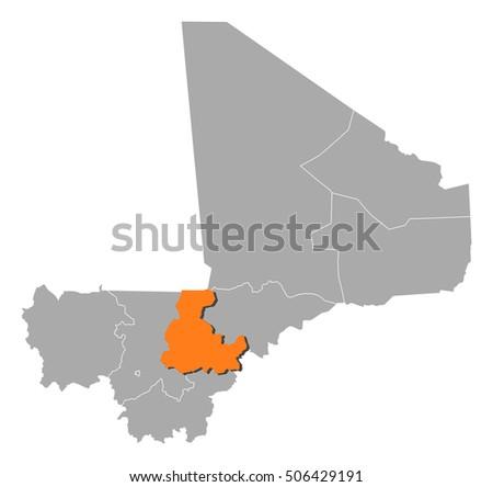 Map Mali Segou Stock Photo Photo Vector Illustration 506429191