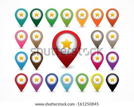 Map Marker - Favorite Location - stock vector