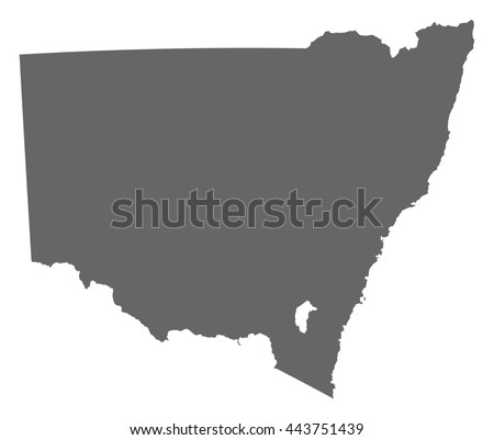 Map - New South Wales (Australia) - stock vector