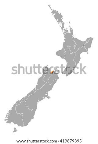 Map - New Zealand, Nelson - stock vector