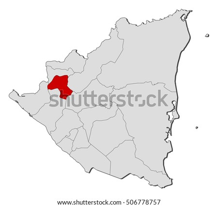Map Nicaragua Esteli Stock Vector 506778757 Shutterstock
