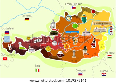 Map Hungary Vector Illustration Stock Vector Shutterstock - Map od