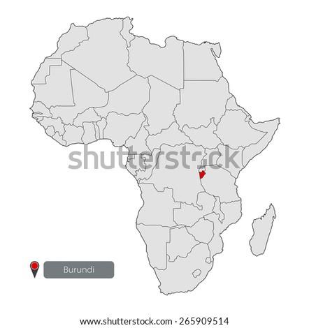 Map Africa Burundi Stock Vector 265909514 Shutterstock