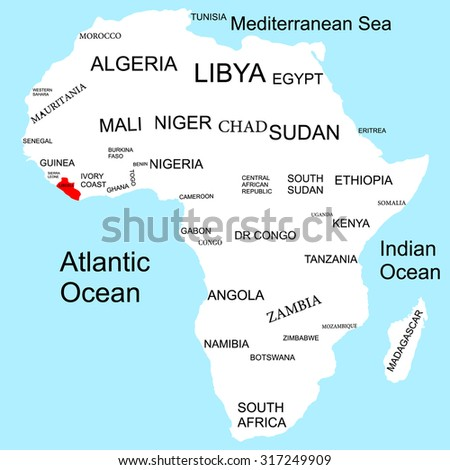 Map of Africa, Liberia