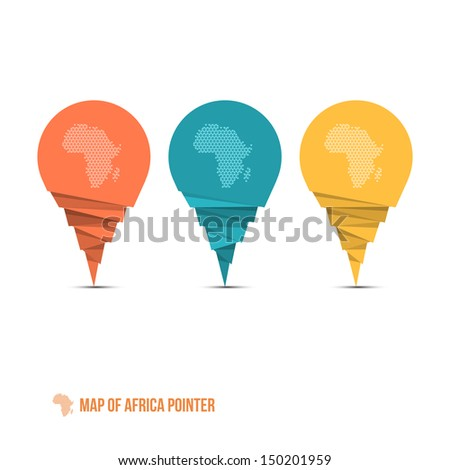 Map of Africa Pointer - Infographic Element - Vector Illustration - stock vector