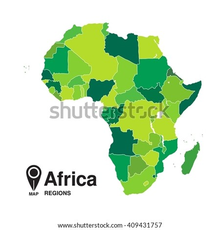 Map Africa Regions Africa Stock Vector Shutterstock - Regions of africa