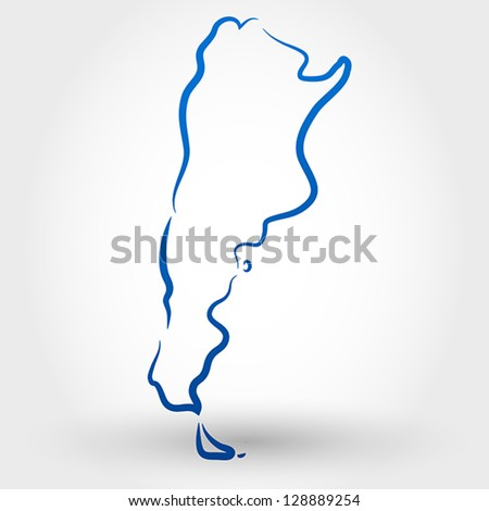 Map Argentina Map Concept Stock Vector Shutterstock - Argentina map vector free