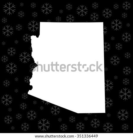 map of Arizona - stock vector