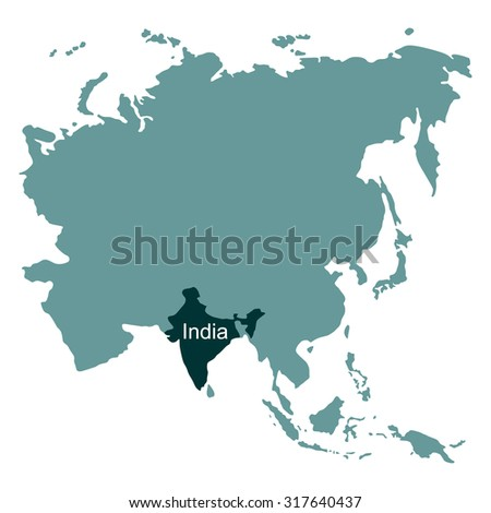 Map asia india stock vector 317640437 shutterstock gumiabroncs Images